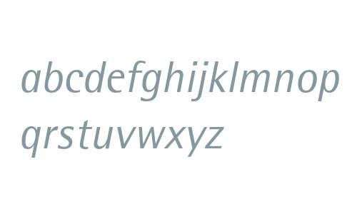 Rotis SemiSans Italic 56