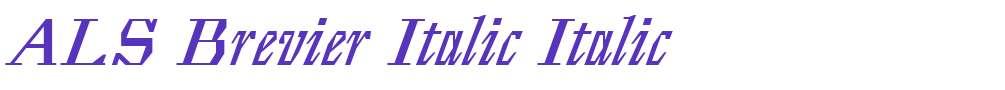 ALS Brevier Italic