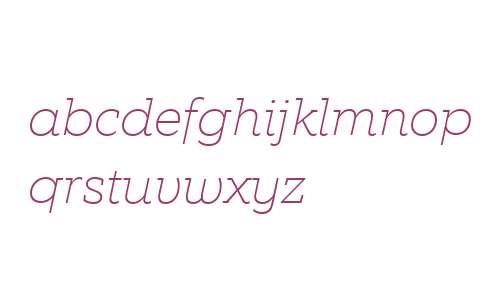 EquipSlab W03 Thin Italic