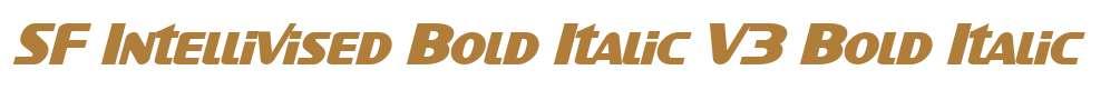SF Intellivised Bold Italic V3