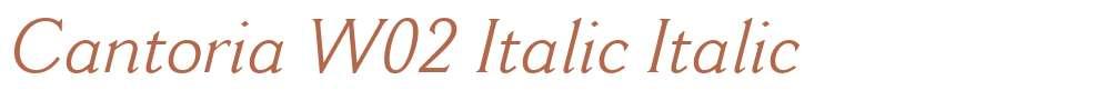 Cantoria W02 Italic