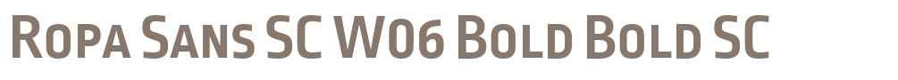 Ropa Sans SC W06 Bold
