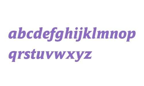Campan W03 ExtraBold Italic
