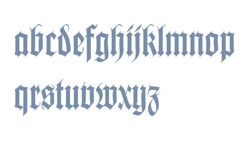 Wilhelm Klingspor Gotisch W02