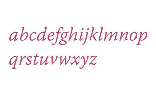 Warnock Pro Light Italic Caption