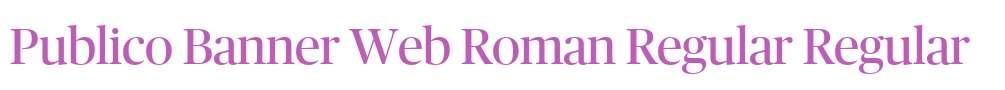 Publico Banner Web Roman Regular