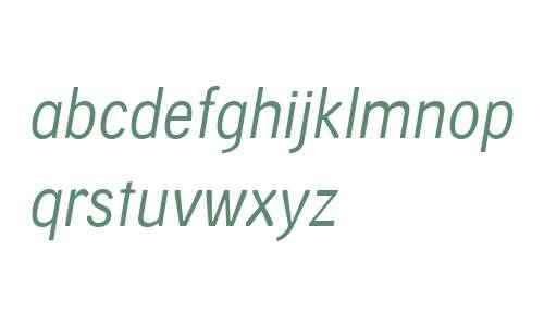 Skilt Gothic W04 Light Italic