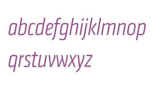 Klavika Web Light Condensed Italic