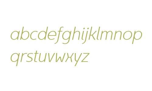 Egon Sans W01 X Light Italic