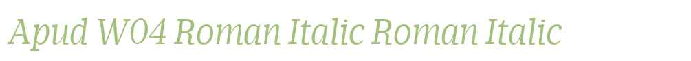 Apud W04 Roman Italic