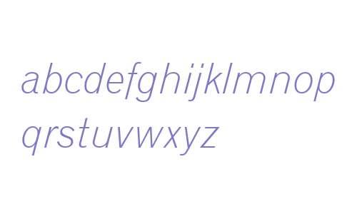 Gothic720 Lt BT Light Italic