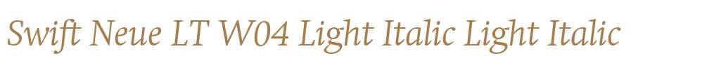 Swift Neue LT W04 Light Italic