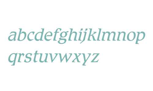 Romic Light Italic