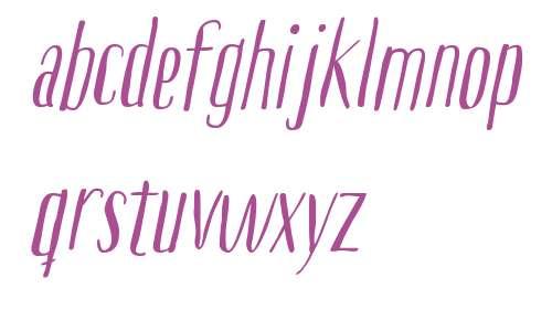 Boho Sans W00 Italic