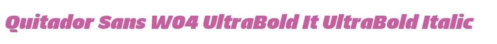Quitador Sans W04 UltraBold It
