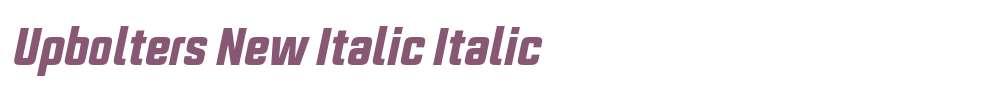 Upbolters New Italic