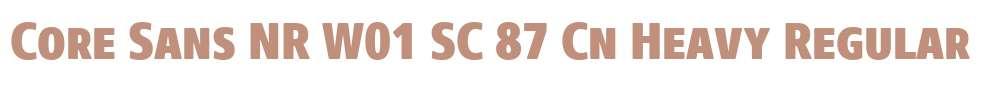 Core Sans NR W01 SC 87 Cn Heavy