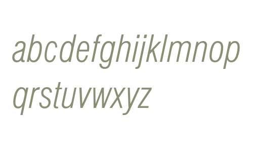Swiss 721 Light Condensed Italic