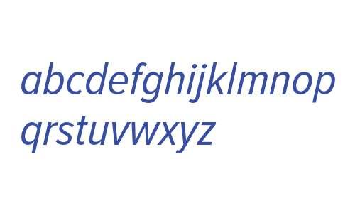Proxima Nova Condensed Regular Italic