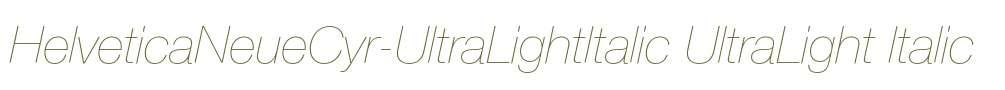 HelveticaNeueCyr-UltraLightItalic