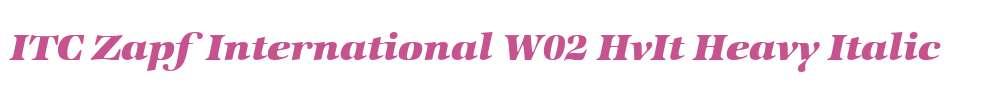 ITC Zapf International W02 HvIt