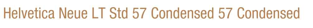 Helvetica Neue LT Std 57 Condensed
