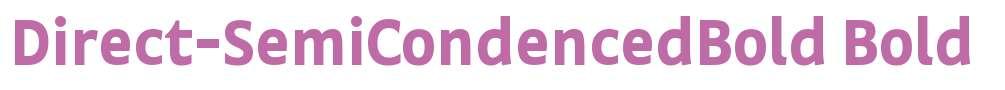 Direct-SemiCondencedBold