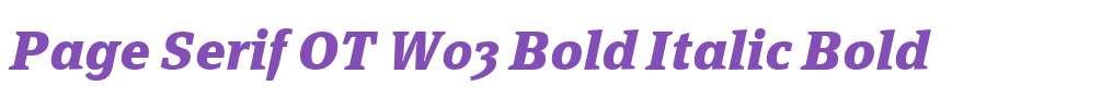 Page Serif OT W03 Bold Italic