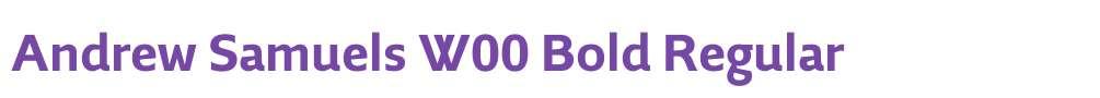 Andrew Samuels W00 Bold