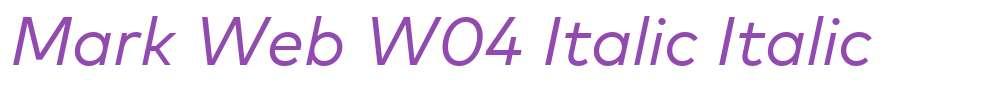 Mark Web W04 Italic
