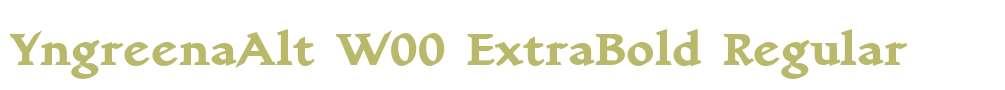 YngreenaAlt W00 ExtraBold