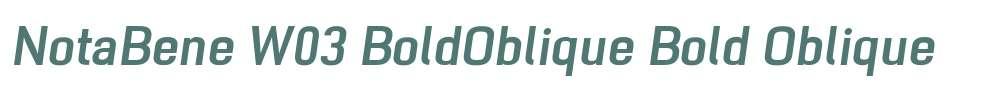NotaBene W03 BoldOblique