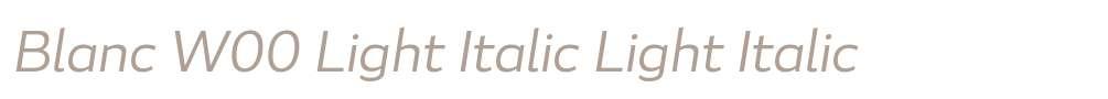 Blanc W00 Light Italic