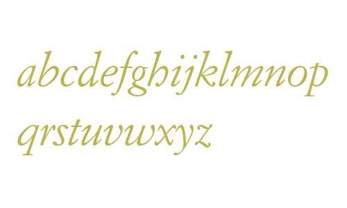 ItalianGarmnd BT Italic
