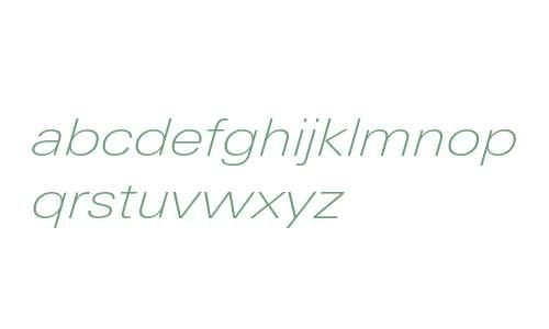 LinotypeUnivers-ExtendedThinItalic