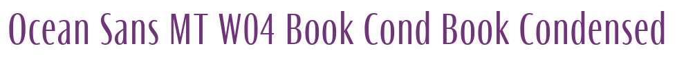 Ocean Sans MT W04 Book Cond