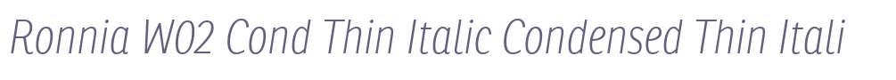 Ronnia W02 Cond Thin Italic