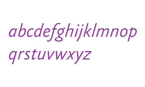 Yoga Sans OT W03 Light Italic