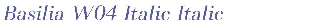 Basilia W04 Italic