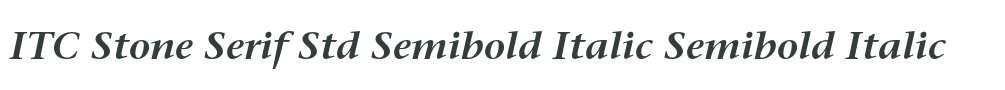 ITC Stone Serif Std Semibold Italic