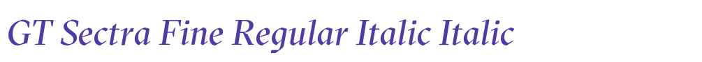 GT Sectra Fine Regular Italic