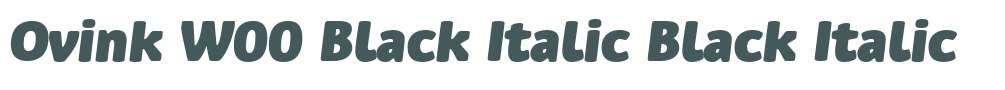 Ovink W00 Black Italic