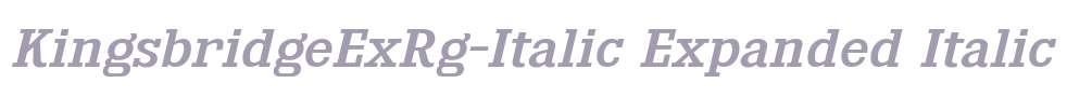 KingsbridgeExRg-Italic