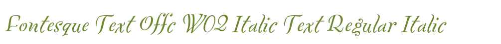 Fontesque Text Offc W02 Italic