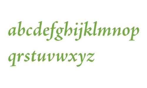Adobe Jenson Pro Semibold Italic