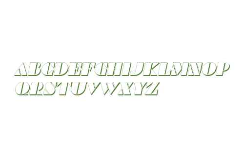 Commanders Shadow Italic
