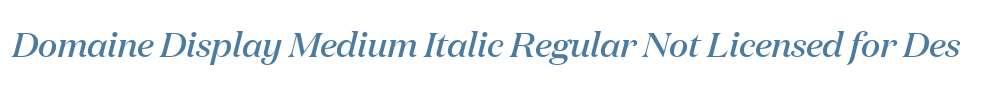 Domaine Display Medium Italic Regular