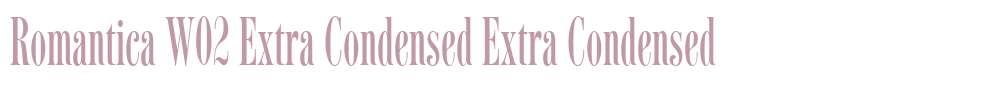Romantica W02 Extra Condensed