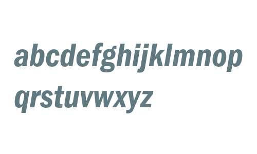 ITC Franklin Gothic LT Demi Condensed Italic