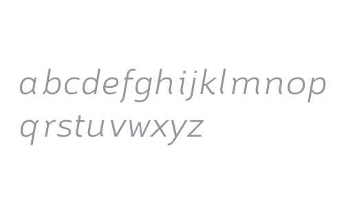Brisko Sans W01 Light Italic